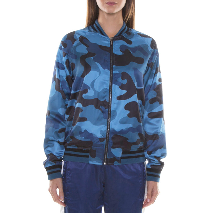 BLUE CAMO LIGHT BOMBER JACKET - Standard Issue NYC