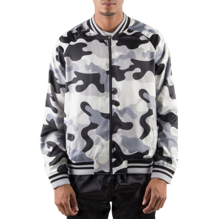 GREY CAMO LIGHT BOMBER JACKET - Standard Issue NYC