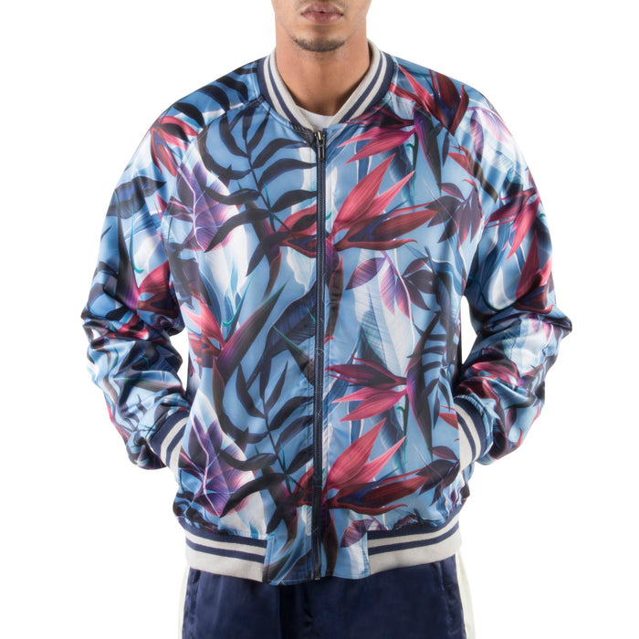 PURPLE FLORAL LIGHT BOMBER JACKET - Standard Issue NYC