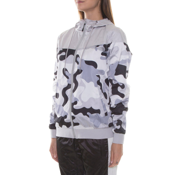 GREY CAMO LIGHT HOOD JACKET - Standard Issue NYC