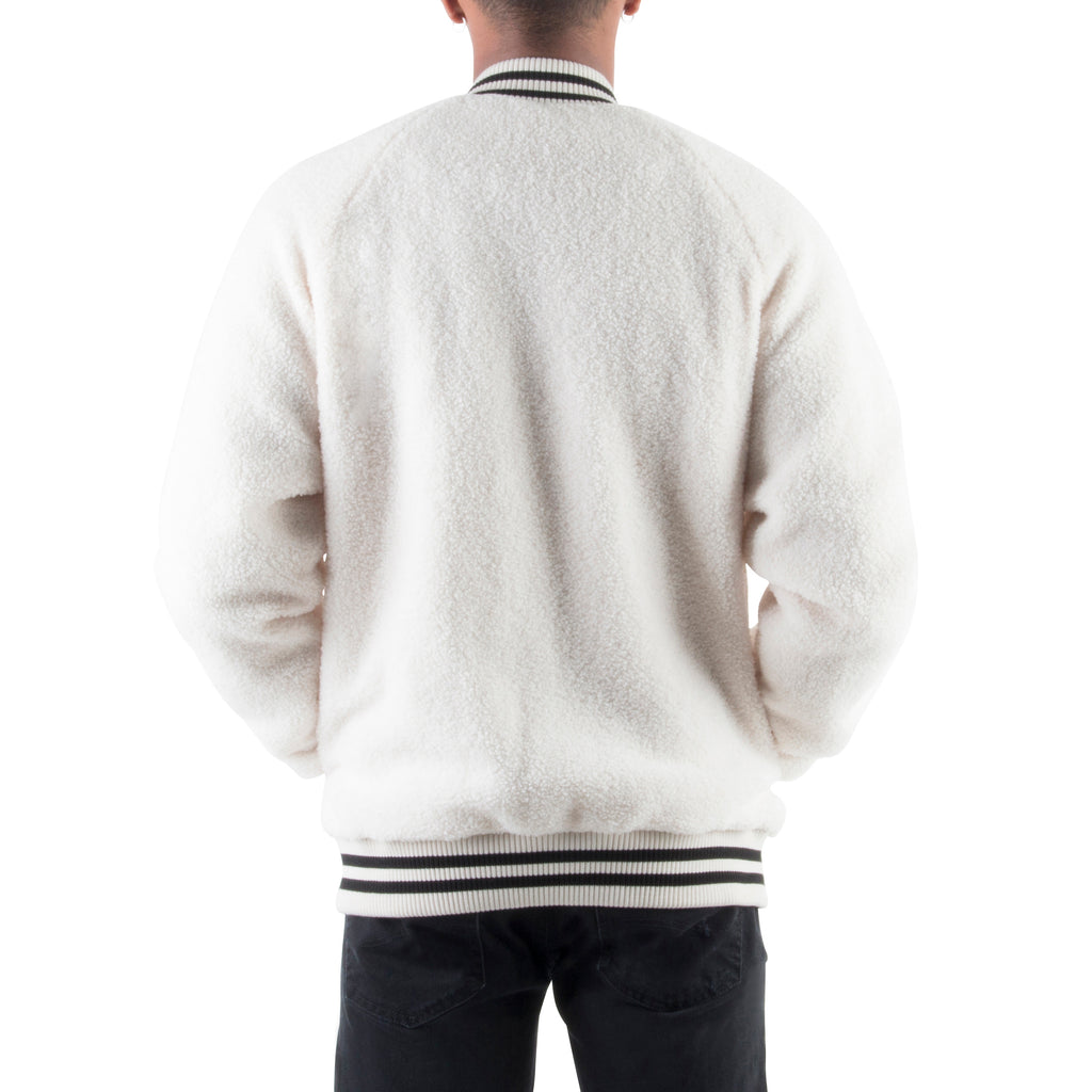WHITE SHERPA JACKET - Standard Issue NYC