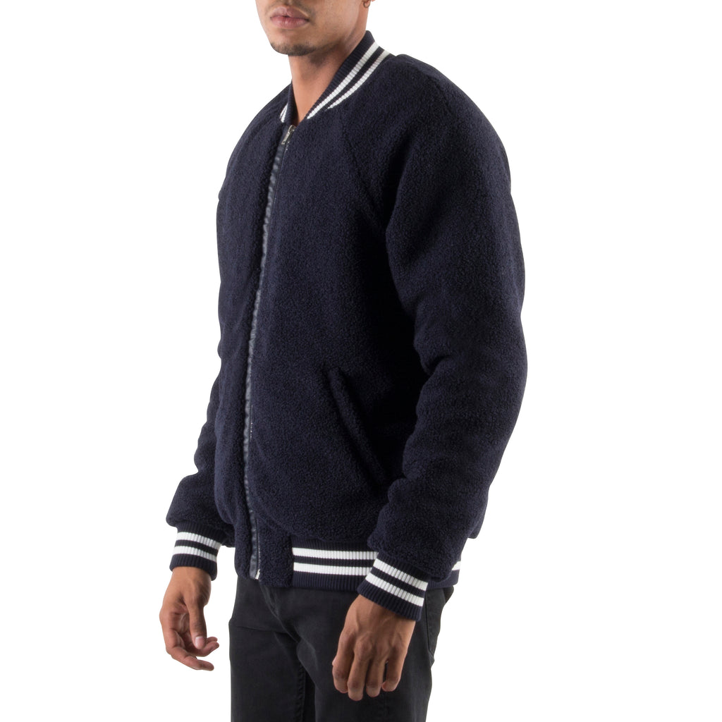 NAVY SHERPA JACKET - Standard Issue NYC