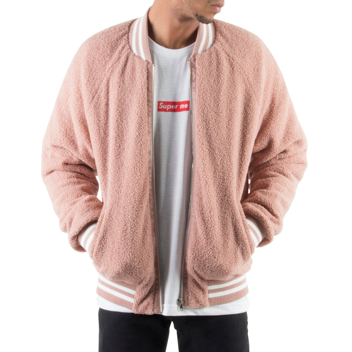 PINK SHERPA JACKET - Standard Issue NYC