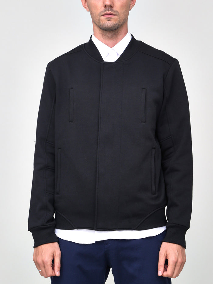 TERRY BOMBER JACKET - BLACK