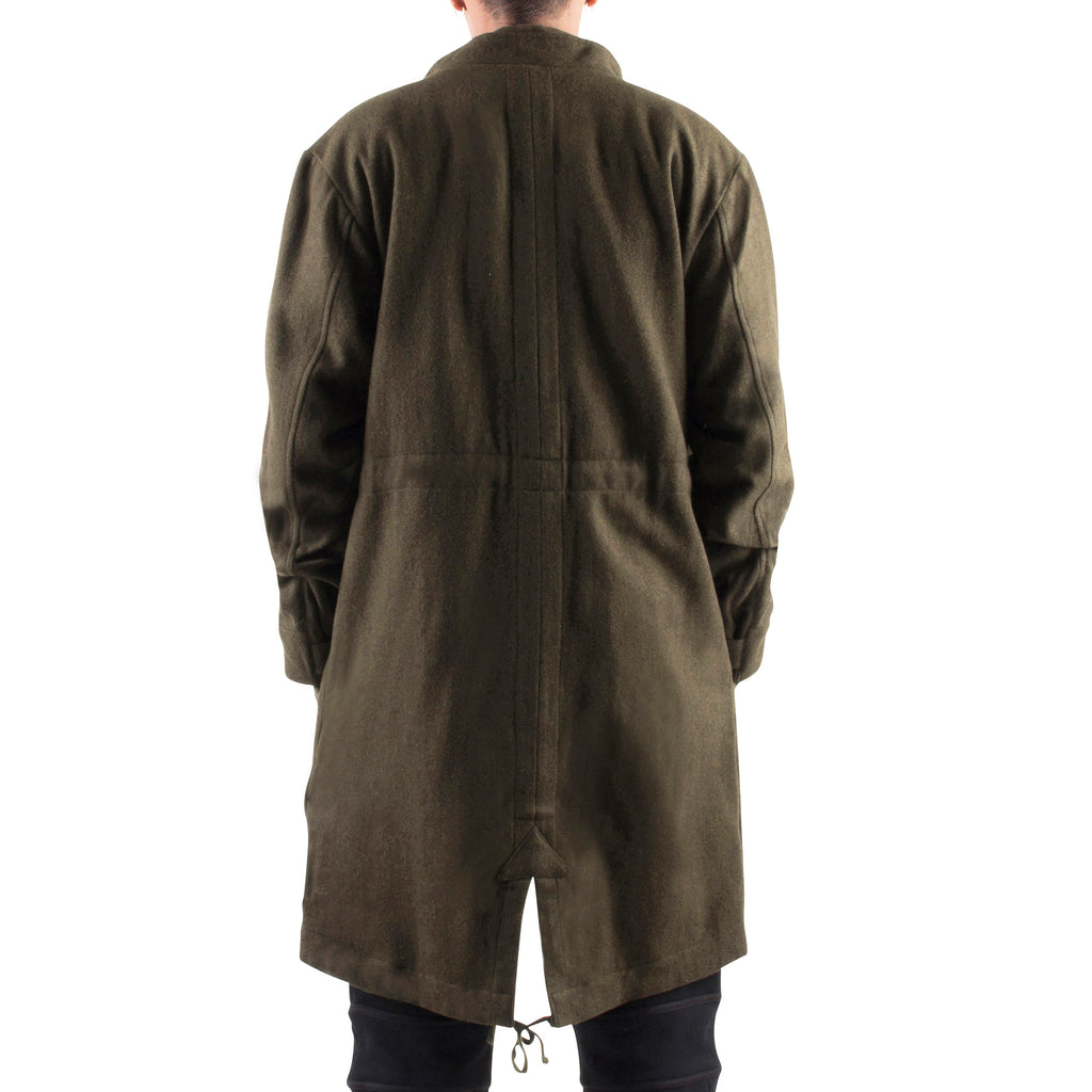 OLIVE WOOL MILITARY JACKET - Standard Issue NYC