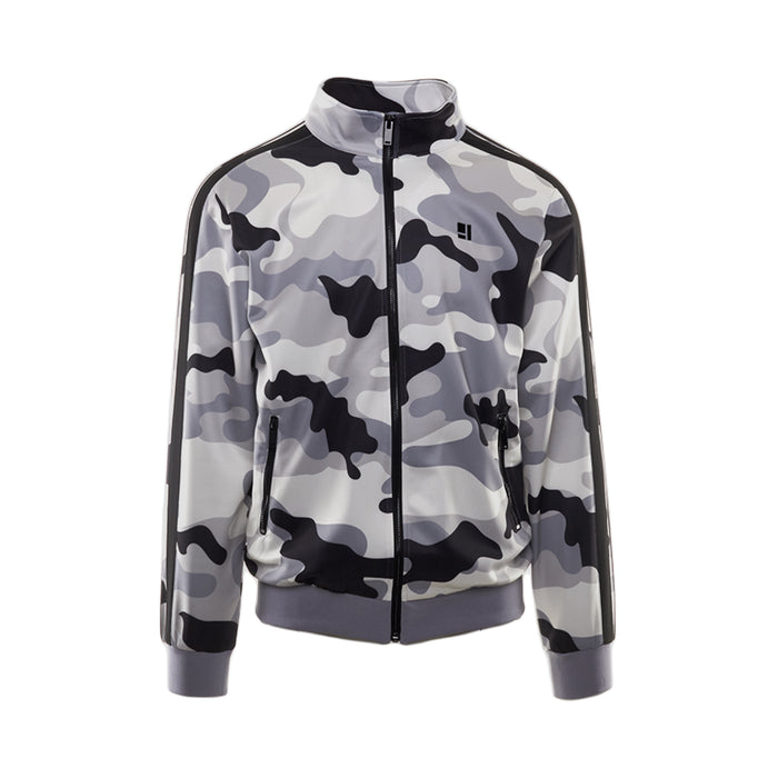 GREY CAMO ZIP FRONT TRACK JACKET - Standard Issue NYC