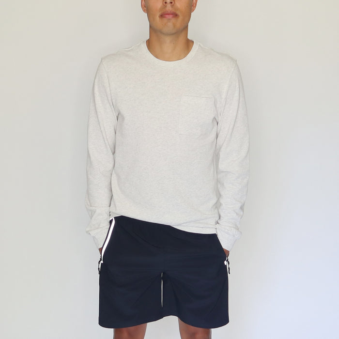 EVERYDAY LONG-SLEEVE TEE - CREAM