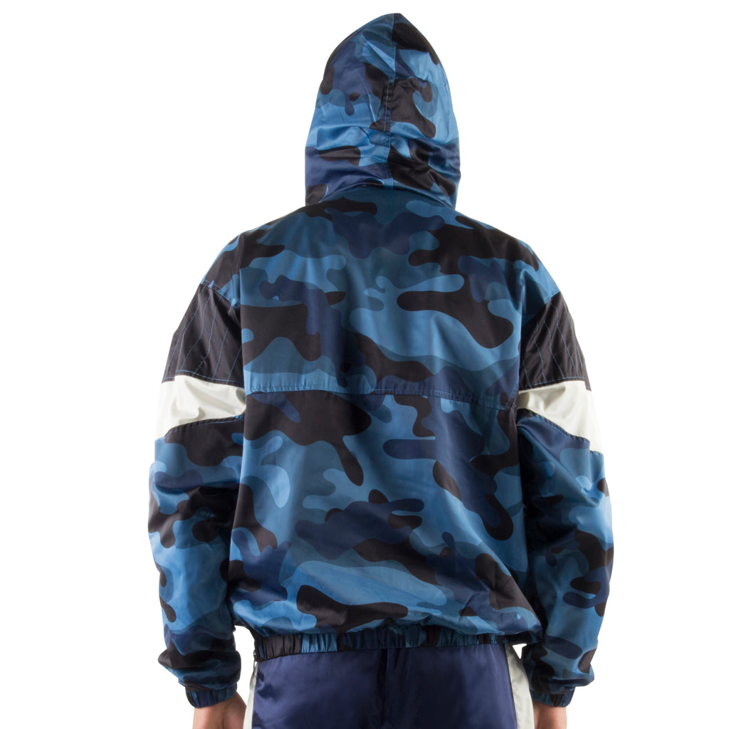 BLUE CAMO LIGHT PULLOVER JACKET - Standard Issue NYC