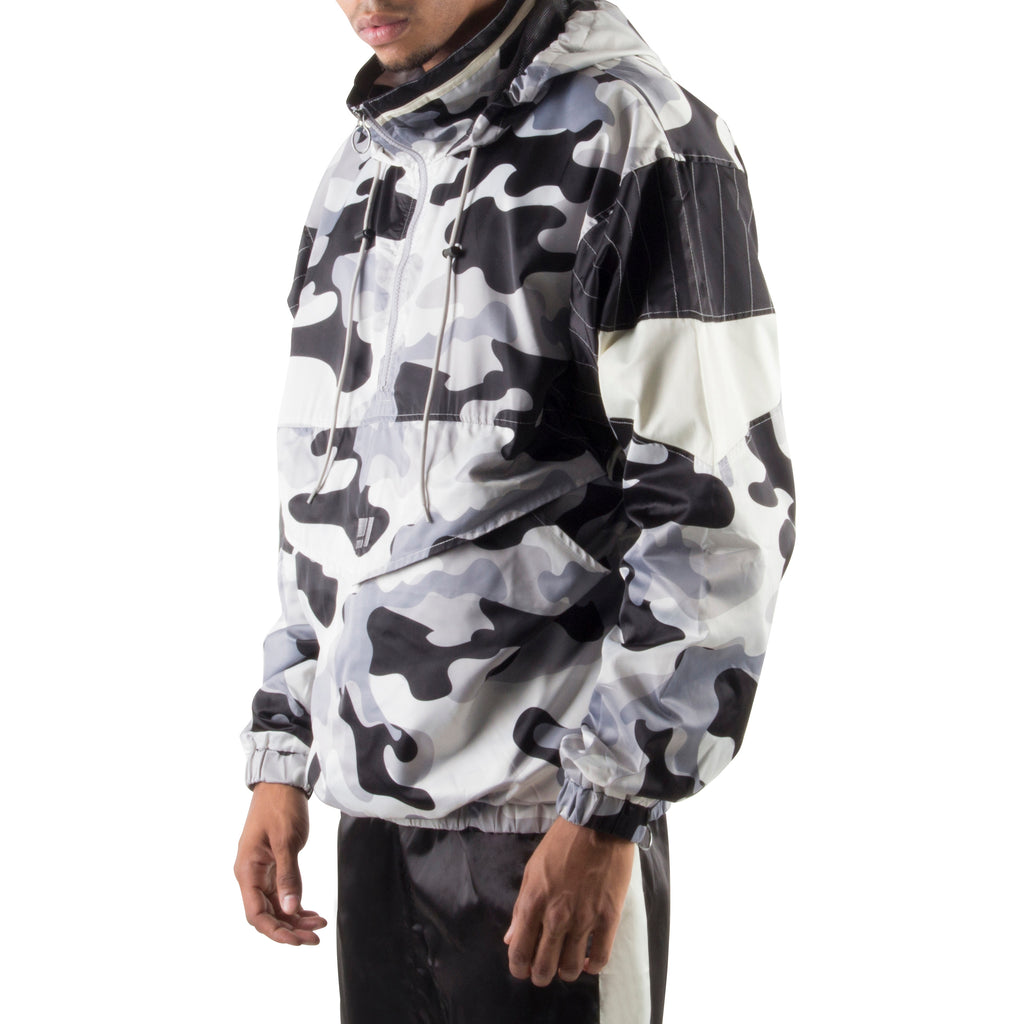 GREY CAMO LIGHT PULLOVER JACKET - Standard Issue NYC