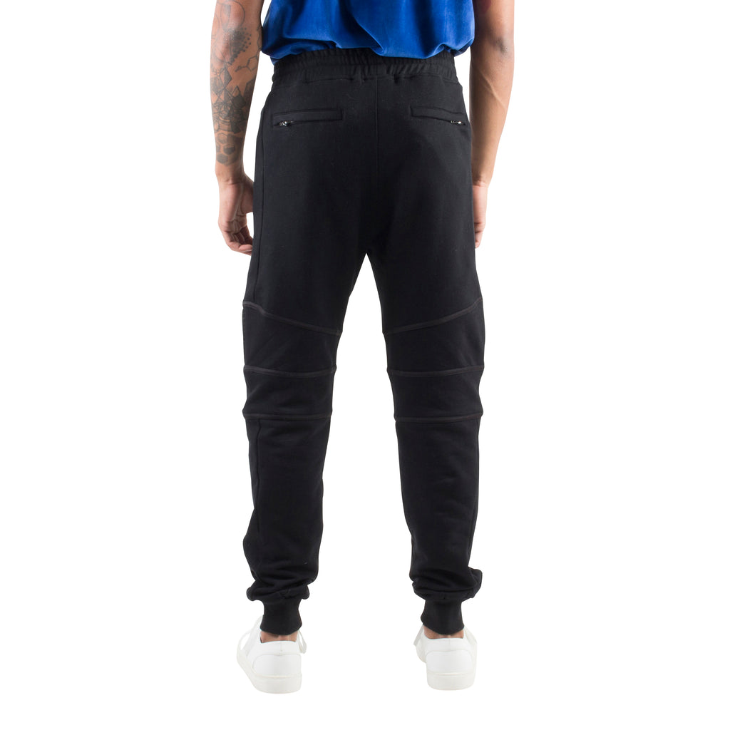 RELAXED MOTO JOGGERS - BLACK - Standard Issue NYC