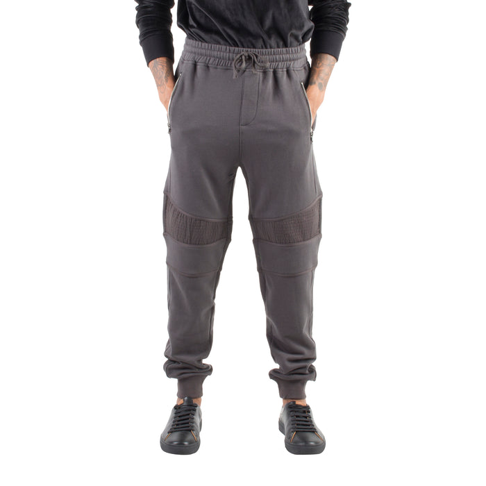RELAXED MOTO JOGGERS - CHARCOAL