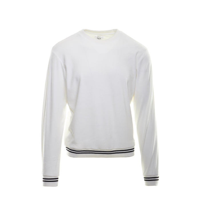 WHITE BLACK VELOUR SWEATSHIRT - Standard Issue NYC