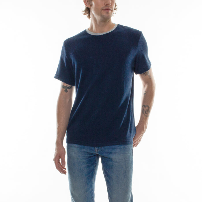 HACCI CREW NECK TEE - INDIGO/GREY - Standard Issue NYC
