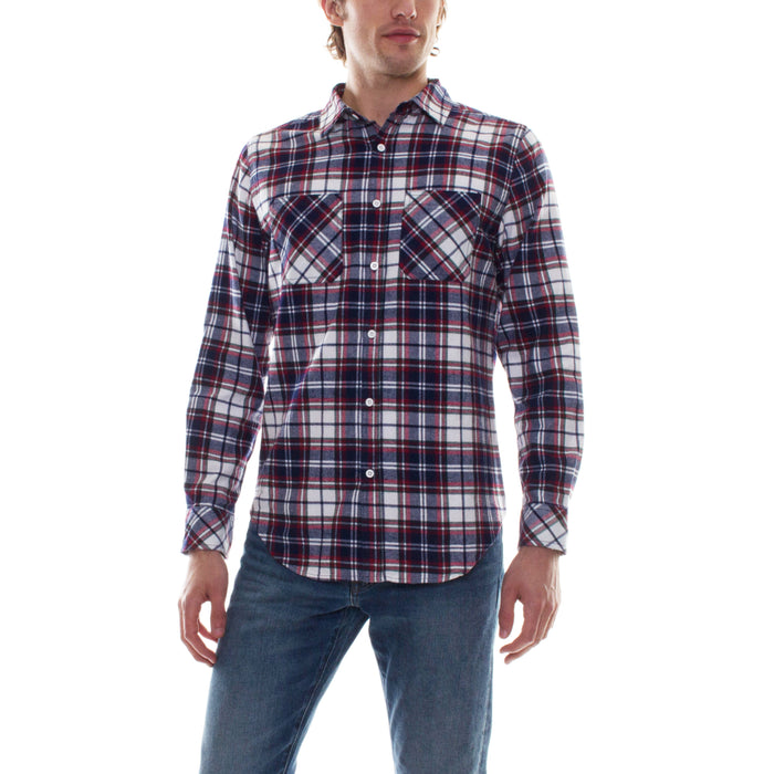 FLANNEL SHIRT - NAVY/RED - Standard Issue NYC