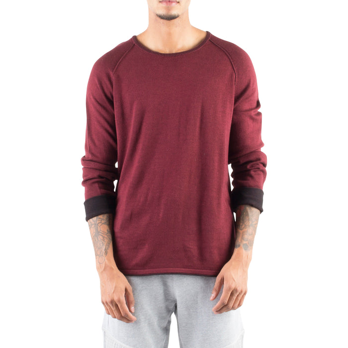 ROLLED EDGE RAGLAN SWEATER - BURGUNDY - Standard Issue NYC