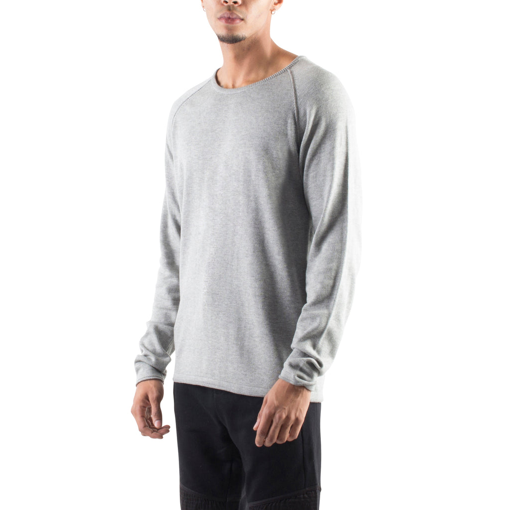 ROLLED EDGE RAGLAN SWEATER - HEATHER GREY - Standard Issue NYC