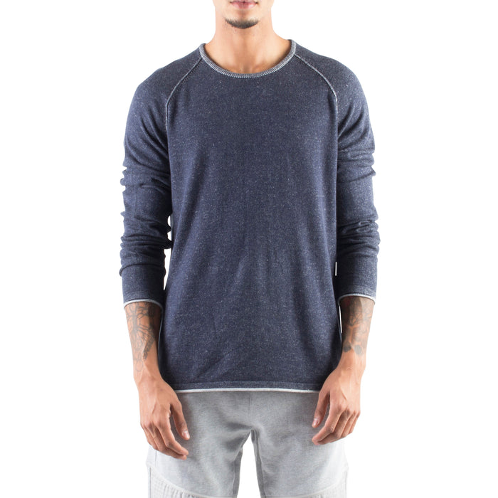 ROLLED EDGE RAGLAN SWEATER - NAVY - Standard Issue NYC