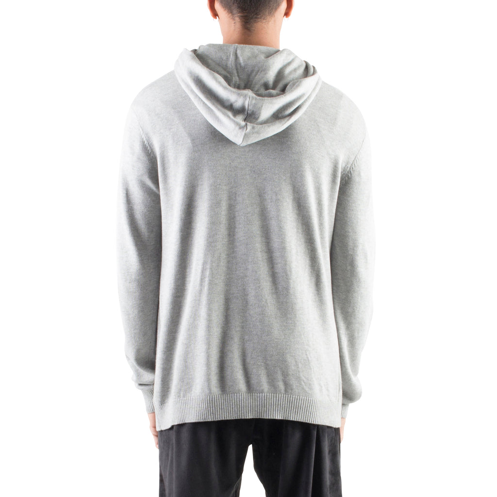 KNITTED CROSSOVER HOODIE - HEATHER GREY - Standard Issue NYC
