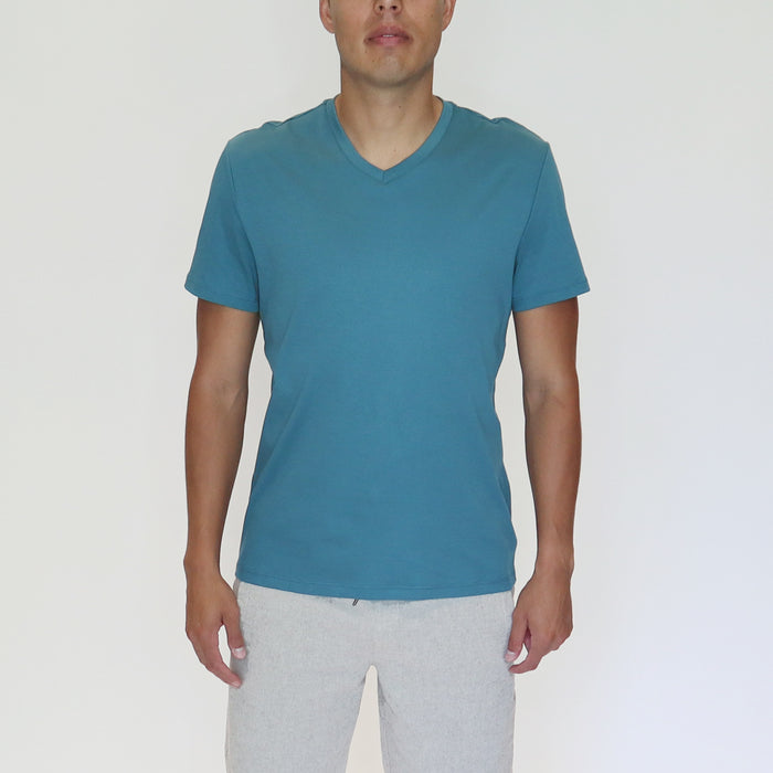 EVERYDAY V-NECK TEE - TEAL