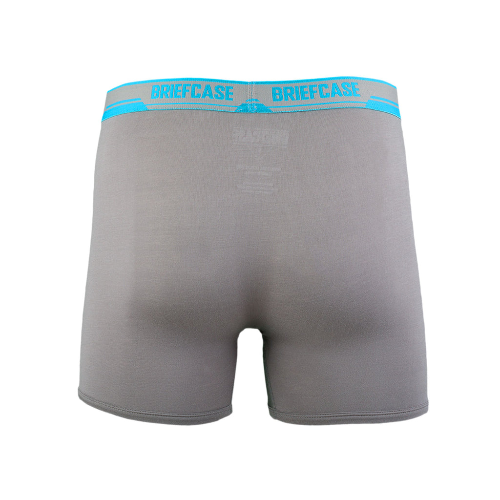 BRIEFCASE MEN'S SINGLE BOXER BRIEFS W/ INTERNAL POUCH - GREY - Standard Issue NYC