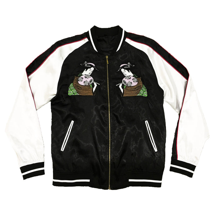 UNISEX BLACK/WHITE GEISHA SOUVENIR JACKET - Standard Issue NYC