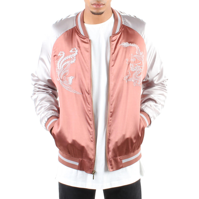 ROSE GREY DRAGON SOUVENIR JACKET