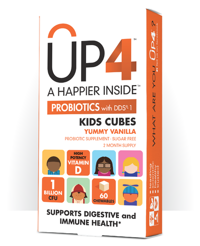 UP4 Probiotics with DDS-1, Kids Vanilla Cubes, 60 Chewable