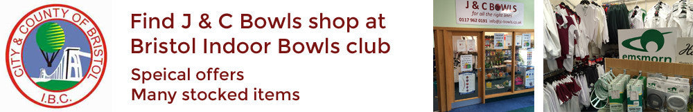 Visit our shop at the Bristol Indoor Bowls centre