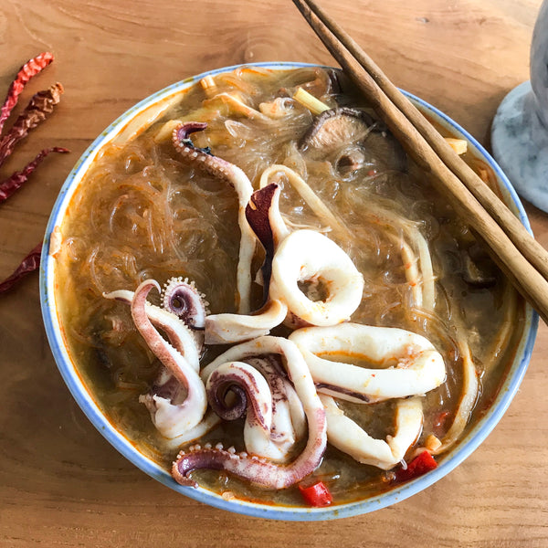 TOM YUM SQUID AND TANG HOON SOUP