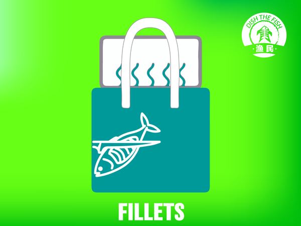 Dishthefish Fillet Bag - The New Age Fishmonger Fresh Fish Third Generation Fishmonger fillet bag wet market singapore fresh fish fresh seafood dish the fish online delivery 新加坡 新鮮 海鮮 鮮魚 無骨 网购 送货 渔民 鱼片 放便 真空包