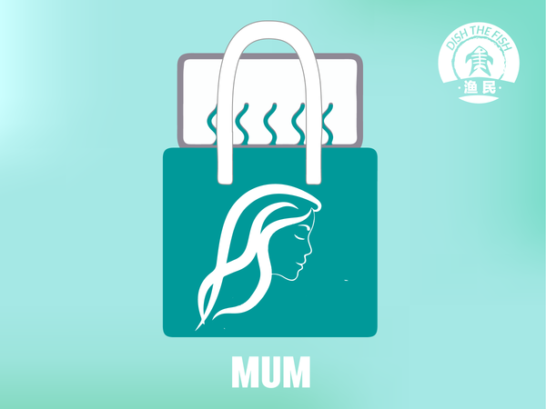 Dishthefish Mum Bag - The New Age Fishmonger Fresh Fish Third Generation Fishmonger