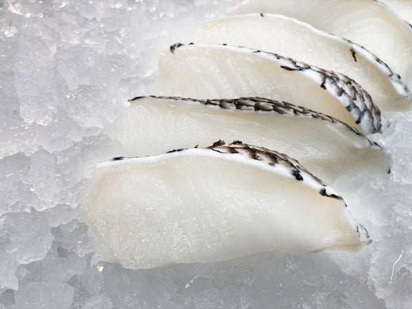 Wild Cod/ Chilean Seabass Fish Slices (about 100g) - Dishthefish DishTheFish Chilean Seabass Patagonian Toothfish Codfish Child Cut Australia Sustainable Wild Caught Line Hooked Slices Soup Grill Bake Online Delivery Singapore MSC Marine Stewardship Council (2400x1800)
