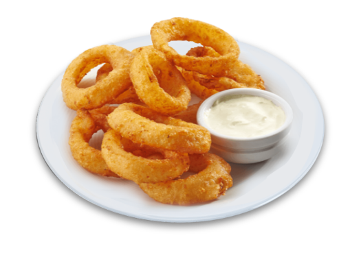 Baked Onion Rings with Homemade Wasabi Ranch Dressing