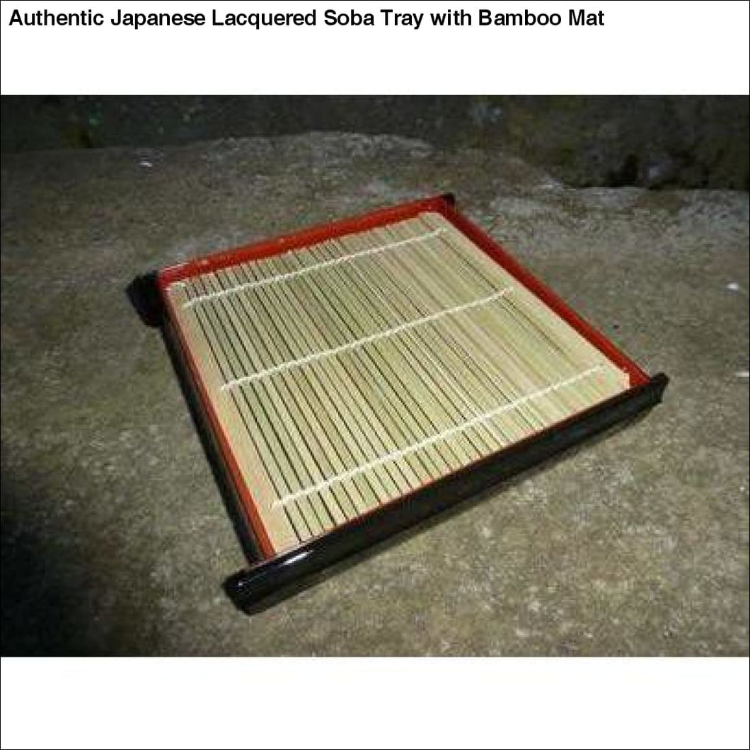 Authentic Japanese Lacquered Soba Tray with Bamboo Mat - Table Ware