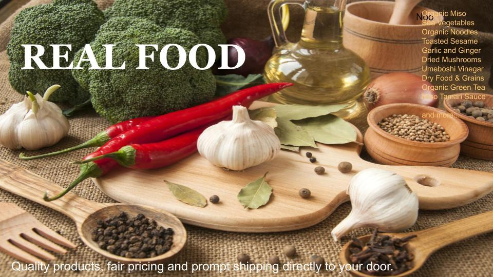 real, authentic ingredients and food