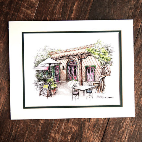 Colored Pencil Drawing of Shed Patio