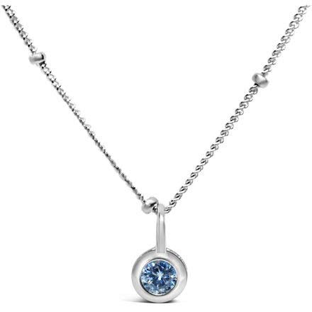 Stia Clear CZ Birthstone Sterling Silver Necklace