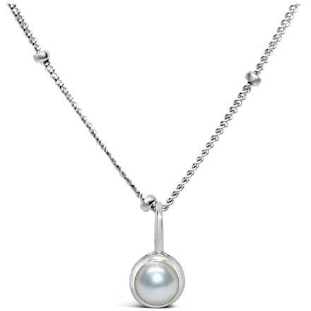 Stia Pearl Birthstone Sterling Silver Necklace