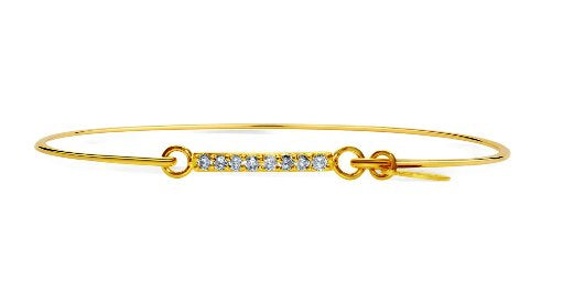Stia Pave Icon Gold Plated Bar Bracelet