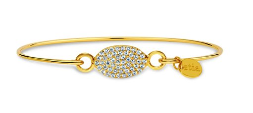 Stia Pave Icon Gold Plated Oval Bracelet