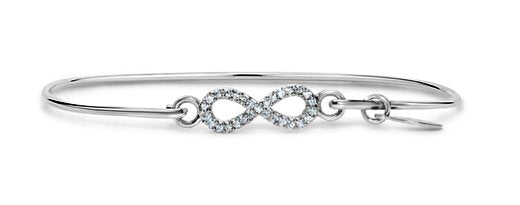 Pave Icon Sterling Silver Infinity Bracelet