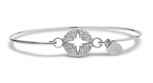 Stia Sterling Silver Pave Icon North Star Bracelet with Cubic Zirconias