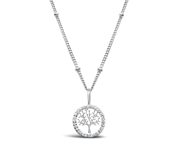 Stia Pave Icon Tree of Life Sterling Silver Necklace