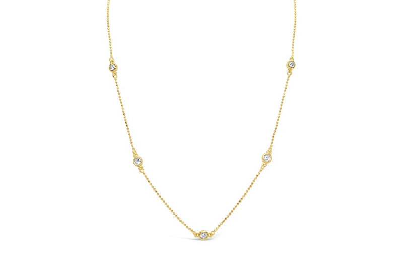 Stia Diamonds By the Inch Necklace in Gold Plated