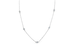 Stia Diamonds By the Inch Necklace in Sterling Silver