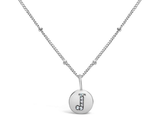 Stia Sterling Silver Love Letters Necklace in J