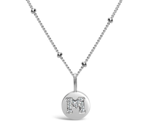 Stia Sterling Silver Love Letters Necklace in M