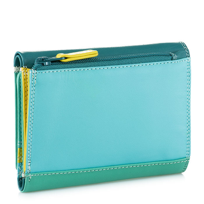 Mywalit Small Tri-Fold Leather Wallet in Mint