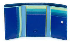 Mywalit Small Tri-Fold Leather Wallet in Seascape