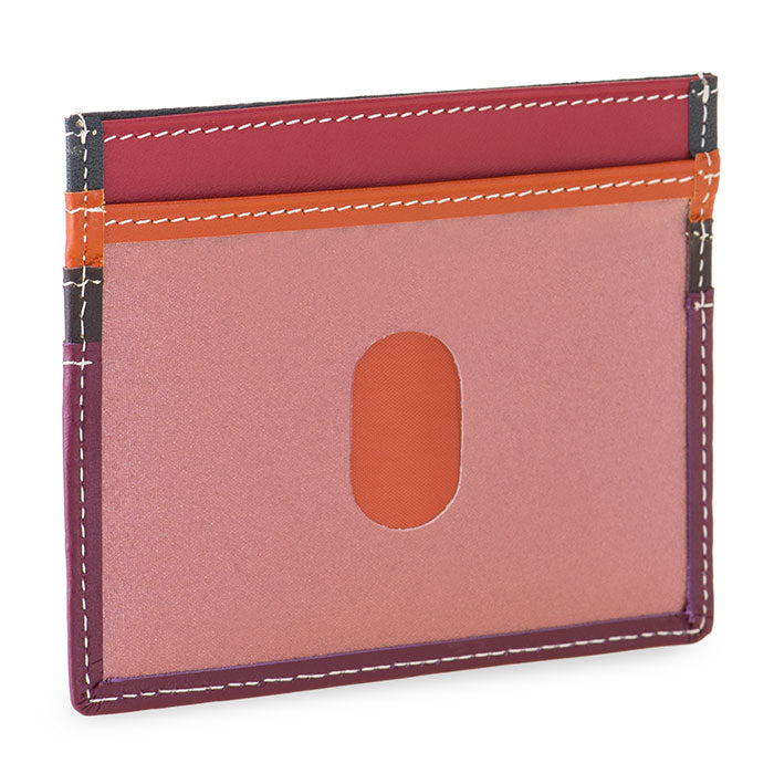 mywalit Leather Credit Card Holder in Chianti